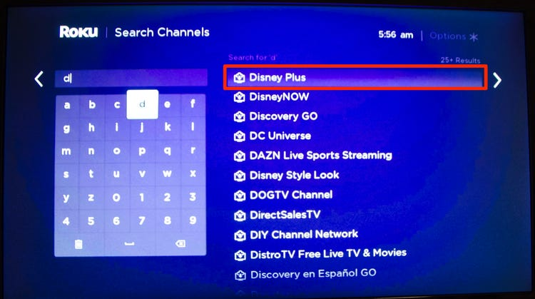 Search Disney Plus On Roku